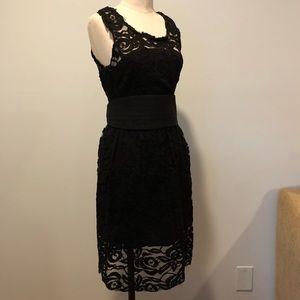BB Dakota Black Lace Dress with Cumber-bun